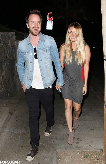 Wednesday-Aaron-Paul-Lauren-Parsekian-had-date-night
