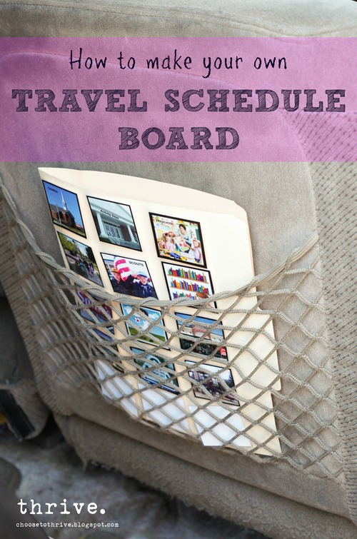 How to make a travel schedule board - great for special needs children and traveling - Choose To Thrive