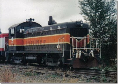 Oregon Pacific SW8 #602 at Liberal in September 1998