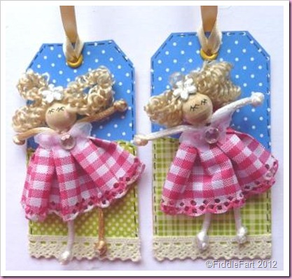 Pink Doll Gift Tags