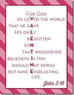 John 3:16 Valentine Free Download