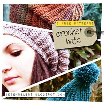 free crochet pattern_3 crocheted hats_airali handmade