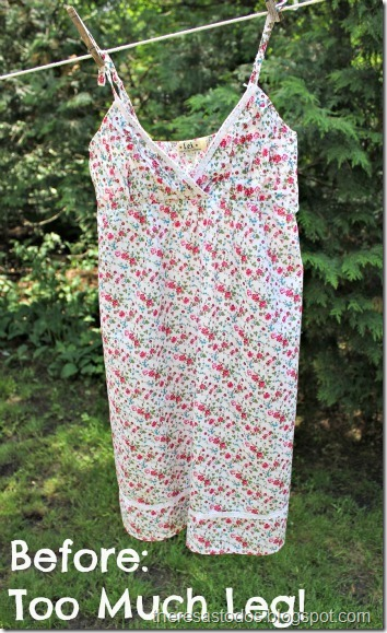 Sundress Refashion, Before