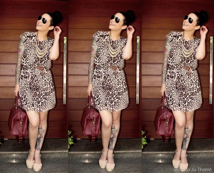 look vestido animal print e espadrilles no verão