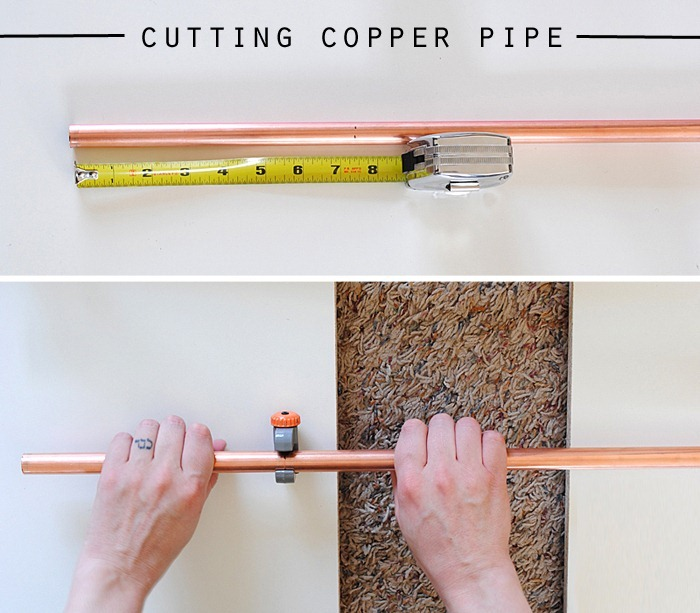 cutting copper pipe
