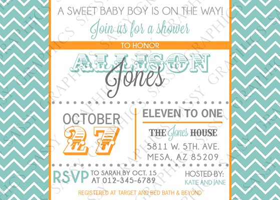 Baby Boy Baby Shower Invitation-10