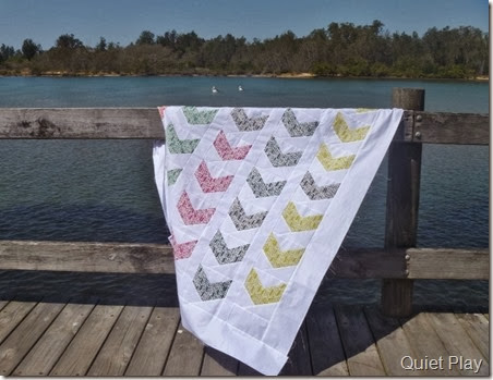 Feathers Paper Pieced Quilt