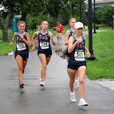 US Women warming up before the race.
