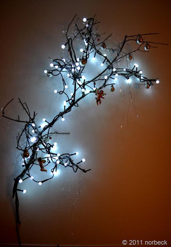 Julträd med belysning