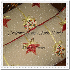 quilted christmas pillow button
