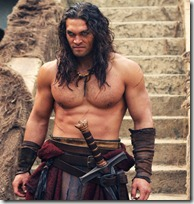 The Barbarian Jason Momoa as Conan