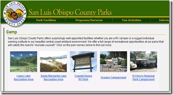 San Luis Obisbo camping reservations
