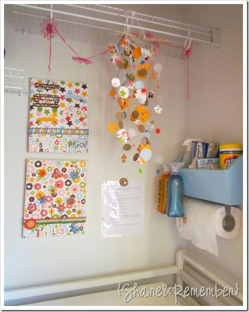 supply bin over changing table
