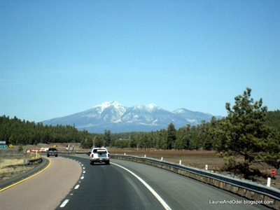 Mt. Humphreys, heading north on I-17