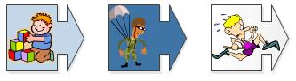 A parachutist