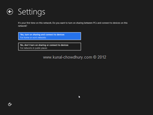 Win 8 Installation Experience - Settings - Device