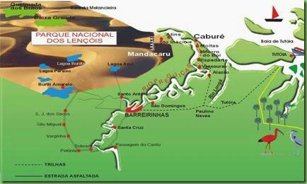 mapa dos lençois maranhenses