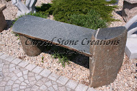 Raised End Boulder Garden Bench