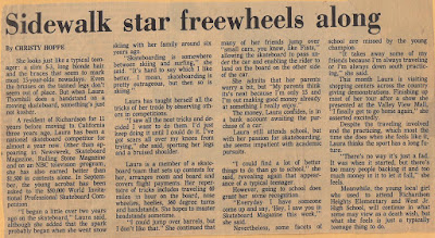 Laura/Sidewalk star free wheels along