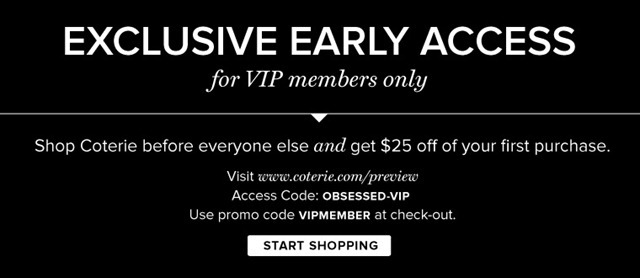 Coterie email-exclusiveearlyaccess