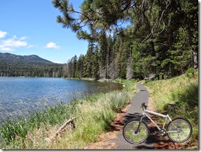 Lake bike ride and chipmunks 048  w bike PE