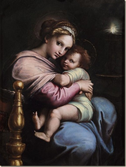Giulio Romano, Vierge à l'enfant