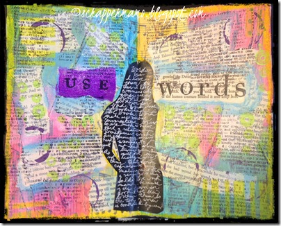 use words journal page-symmetry w border