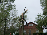 Damage on Redwood Avenue in Washington County