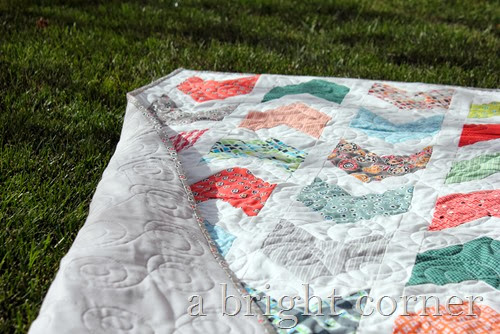 Pow Wow quilt pattern and Florence fabrics via A Bright Corner