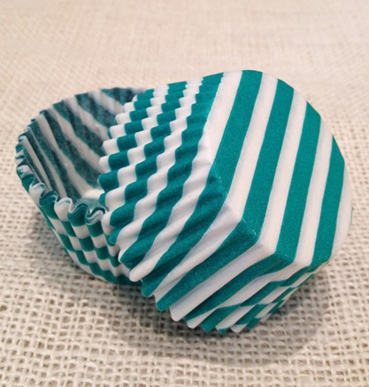 Teal-Green-Striped-Cupcake-Liners