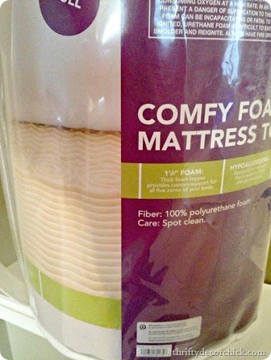 foam mattress for upholstered headboard & How to Make a DIY Tufted Headboard from Thrifty Decor Chick pillowsntoast.com