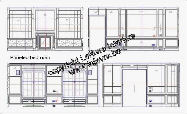 Paneled bedroom Lefèvre Interiors www.lefevre.be