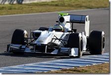 De La Rosa con l'HRT F111 nei test di Jerez 2012