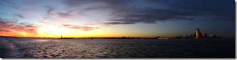 NYC sunset panoramic