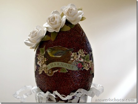 Vintage Chocolate Egg