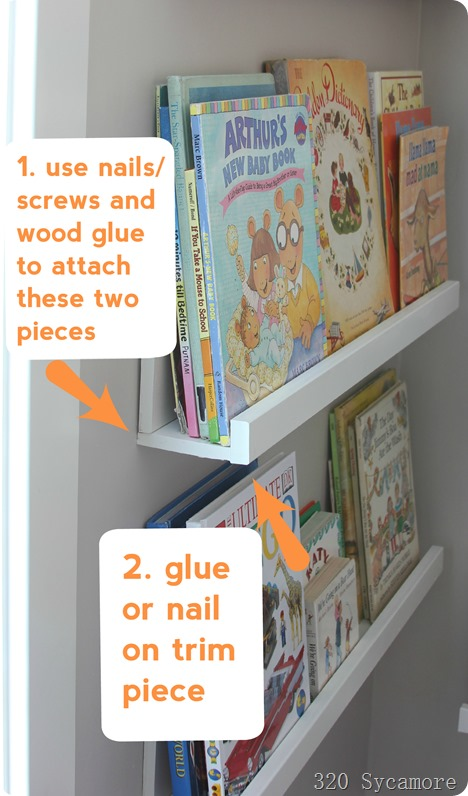 how to make book ledges