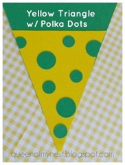 Triangle w Polka Dots Closeup