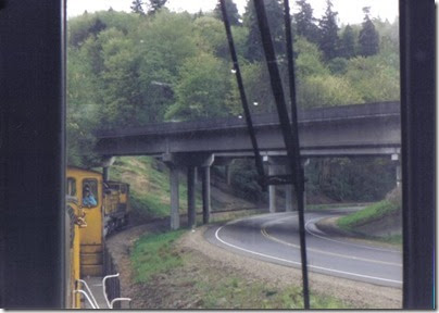 Interstate 5 Bridge over the Weyerhaeuser Woods Railroad (WTCX) on May 17, 2005