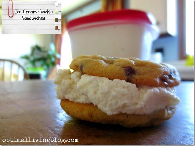 I ce cream cookie sandwiches