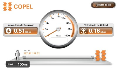 Medir a Velocidade da Internet Copel
