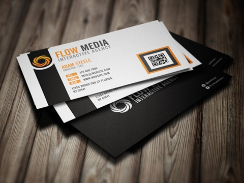 Flow-Media-Business-Cards-Orange