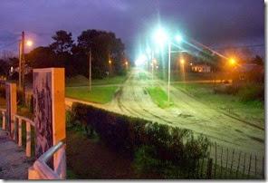 Nueva luminaria en la vía pública de la localidad de Las Toninas