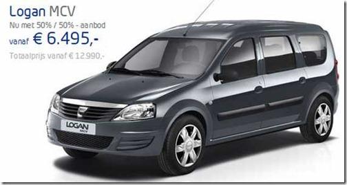 Prijzen 1-7-2012 Dacia Logan MCV
