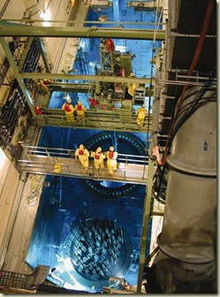 Panoramic shot of a reactor core reload from above Comanche Peak nuclear plant.