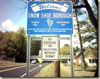 Snow Shoe Welcome
