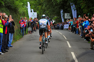 The riders complete the first King of the Mountains stage on Pennsylvania Road, Exeter