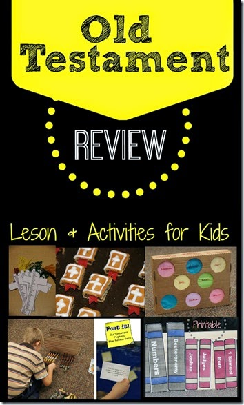old testament review - lots of fun games and activities to help elementary age kids review with a Bible game (kindergarten, first grade, 2nd grade, 3rd grade)