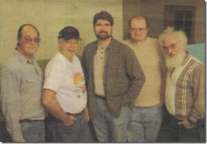 Longview, Kelso & Rainier Model Railroad Club Members Cliff West, Al Peffley, Rob Painter, Doug Markhart and Al Belanger in 2005