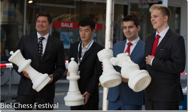 Four GMs in Biel Chess Festival 2013
