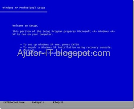 Ghid Instalare Windows XP 1